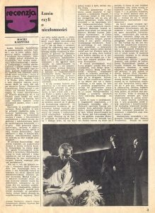 (1/2) Żródło: Teatr, nr-23 (764) 9/11/1980 r.