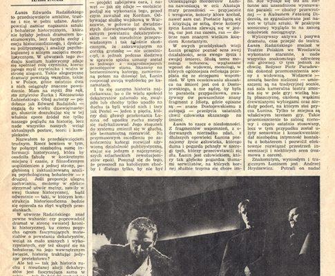 Łunin czyli o niezłomności – prasa